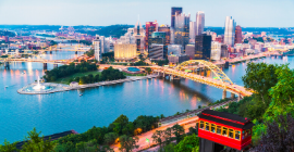 A photo of Pittsburgh from the Mt. Washington overlook.
