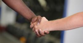 A photo of a handshake.