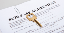 A photo of a lease.